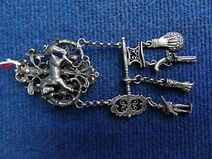 RUSSIAN SILVER ? CHATELAINE, HUNTSMAN BUCKLE, BELT HOOK, CLASP & APPENDICES