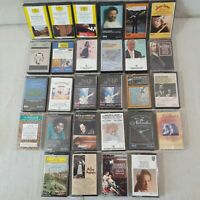 Lot Of 28 Cassette Tapes Variety of  Classical Music by Many Composers/Artists