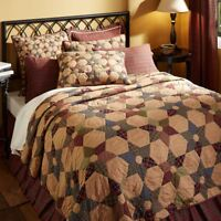 VHC Tea Star Primitive Country Quilt (Your Choice Size & Accessories)