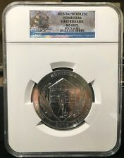 2015 HOMESTEAD ATB 5OZ SILVER QUARTER NGC MS-69PL EARLY RELEASES!!