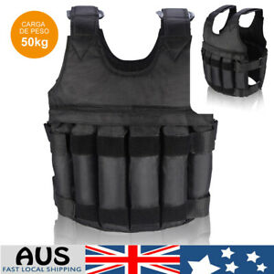 50KG Adjustable Workout Weight Weighted Vest Exercise Gym Training Fitness AU