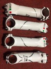 Attacco manubrio bici corsa ITM AluTech Bianco alu road handlebar stem 31,8 used