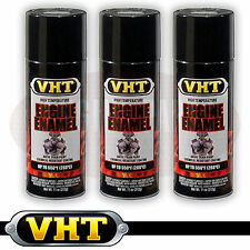 VHT High Temperature Spray Paint ENGINE ENAMEL Gloss Black SP124 X 3 CANS