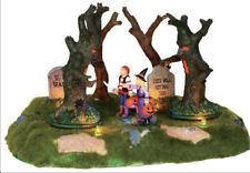 Lemax Spooky Town Are Those Trees Moving? NIB RARE RETIRED Halloween Village