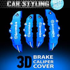 NEW 4pcs Blue Disc Brake Caliper Covers Kit 3D Styling Front & Rear For Peugeot