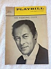 Playbill The Fighting Cock Rex Harrison Feb 8,1960 Anta Theatre