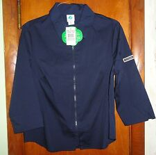 Girl Scouts SENIOR BLOUSE Zipper-Front DARK BLUE Shirt SIZE 7/8 NEW W/TAGS