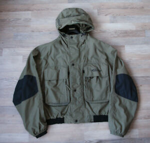 Vision Fly Fishing Olive Green Nylon Wading Jacket Men's 2xl XXL