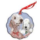 Bedlington Terrier Holiday Porcelain Christmas Tree Ornament