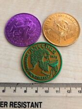 x3 (Three) Vintage US American New Orleans Mardi Gras Tokens / Medals (A712)