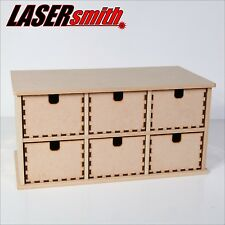 6 seis cajones llano madera caja de madera, armario de almacenamiento, Cómoda