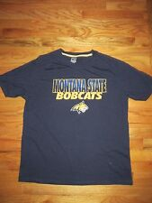 Proedge Knight Apparel Montana State Bobcats Navy PolyBlend T-Shirt Men's XL Q48