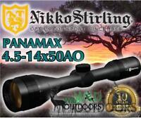 Nikko Stirling - Rifle Scope - Panamax - 4.5-14x50AO - Half Mil Dot Reticle