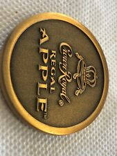 Crown Royal Apple Whisky Token Very Thick Heavy One Nice New Sealed Coin In Bag