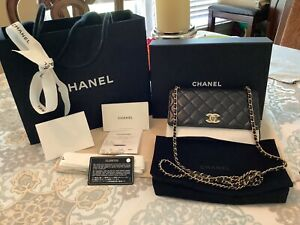 Chanel Quilted Lambskin O-Mini Bag AGNEAU Black With Gold Hardwares