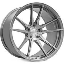 "4ea 20x10/20x12"" Staggered Rohana Wheels RFX2 Brushed Titanium Rims (S1)"