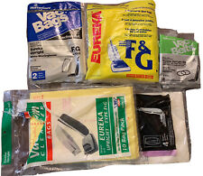 Lot Of Eureka Upright Type F & G Vacuum Bags (10) And Belts (3)
