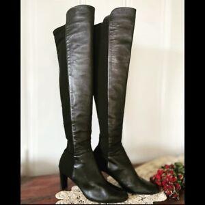 Stuart Weitzman • Nappa Leather Stretch Boots Womens 10.5