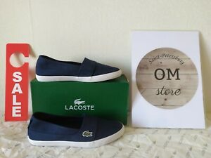 Lacoste Womens MARICE BL 2 Ballet Flats Slip-On Shoes 732SPW0142-003 ALL SIZE