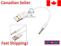 3.5mm Male to Male USB-A 2.0 Plug AUX MP3 Cable Cord Adapter