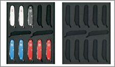 Lindner 2475E Tableaus Einlagen 12 Schweizer Taschenmesser VICTORINOX Pioneer
