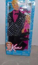 Barbie Ken Clothes Tuxedo - Polka Dot/Pink Shirt, Black Pants,Black Shoes