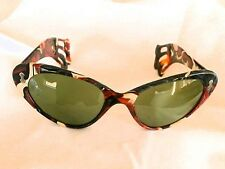 RAREST 1950'S FRENCH HAND-MADE SUNGLASSES! HAIR-CLIP STYLE MULT-ICOLOR TEMPLES!