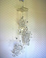 Lovely SUN windchime hanging - clear acrylic