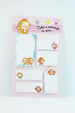 Lovely monkey sticky memo pad post-it 6 pads V155