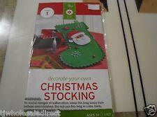 New ! Decorate Your Own Christmas Stocking Kit Foam Stocking Kit Makes 1 Green