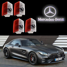 4pcs Mercedes Benz Car Led Door Laser Projector White Logo Lights (Fits: Mercedes-Benz)