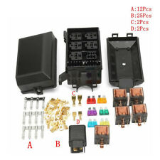 Car Fuse Box 6 Relay Socket Holder 5 Road Insurance Holder 5x12V 80A 1x12v 40A