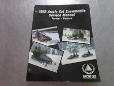 1992 Arctic Cat Cat Snomobile Service Manual Prowler Pantera
