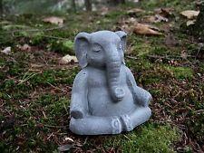 Elephant Meditating, Buddha Like Elephant, Concrete Statue, Lucky Elephant, Art