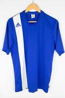 adidas ClimaLite Men T-Shirt Football Soccer Active Sport Leisure Blue size M