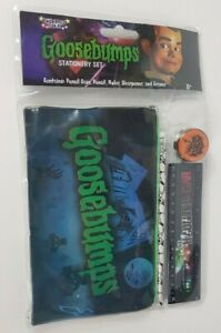 Goosebumps Stationery Set Pencil Case & Pencil, Ruler, Sharpener and Eraser NEW