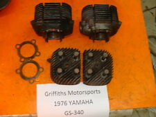 76 75 74 77 YAMAHA GS340 GS 340 RIGHT LEFT CYLINDER CYLINDERS HEADS 337cc SC SL