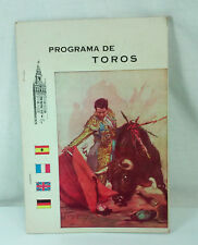 1967 SPAIN PROGRAMA DE TOROS BULLFIGHTING PROGRAM