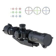 Mira mira para rifle 1.5-4X30 Rojo/verde/azul iluminado para la caza