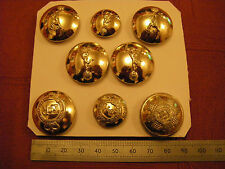Eight Assorted British Army Brass Staybright Buttons Includes Signals, Engineers