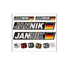 """Jannik"" Auto Fahrrad Motorrad Kart Helm Fahrername Aufkleber Sticker Flagge"