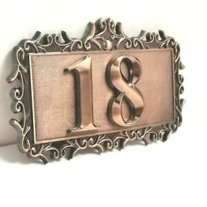 1set Customized House Number Plates 3D Numeral Hotel Door Labels Outdoor Decorat