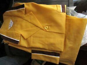 NOS Vtg 70s Vanderbilt Mens GOLD/BROWN Pajamas LARGE C