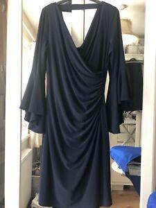 Frank lyman Navy dress Size 16
