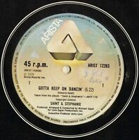 "SAINT AND STEPHANIE gotta keep on dancin' ARIST 12283 uk arista 1979 12"" CS VG/V"