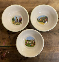 Easter Story Time Williams-Sonoma Soup Cereal Bowls Set of 3 - Rabbits 2012