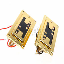 Pair of Gold Frame Guitar Humbucker Pickups B/N for Rickenbacker Guitar