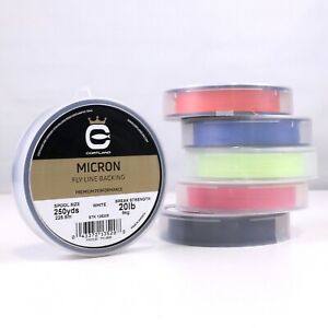 Cortland Micron Fly Line Backing 20 lb 250 yds - ALL COLORS - FREE SHIPPING