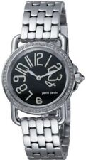 PIERRE CARDIN LADIES TIME COUTURE SS WATCH NEW PC068782005 Swarovski Crystals
