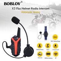 Motorcycle Helmet Blue-tooth Walkie Talkie 2 way Radio UHF 400-470MHZ PTT